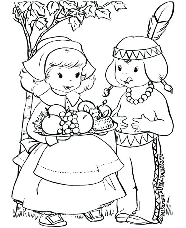 596x730 Unique Thanksgiving Pages To Color For Free Or Free Printable