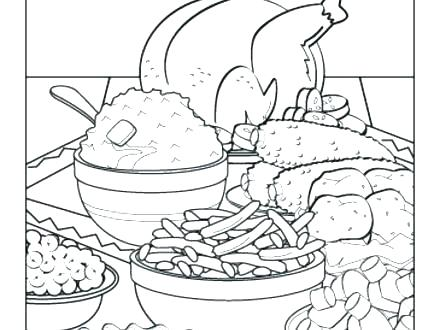 Thanksgiving Dinner Coloring Pages At Getdrawings Com Free For