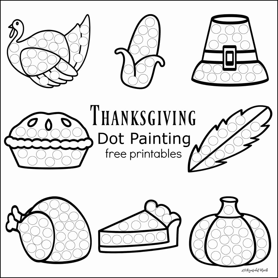 900x900 Dot To Dot Coloring Pages Best Of Thanksgiving Dot Painting Free