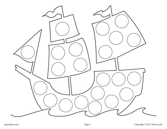 550x425 Free Thanksgiving Do A Dot Printables And Dot Art Painting