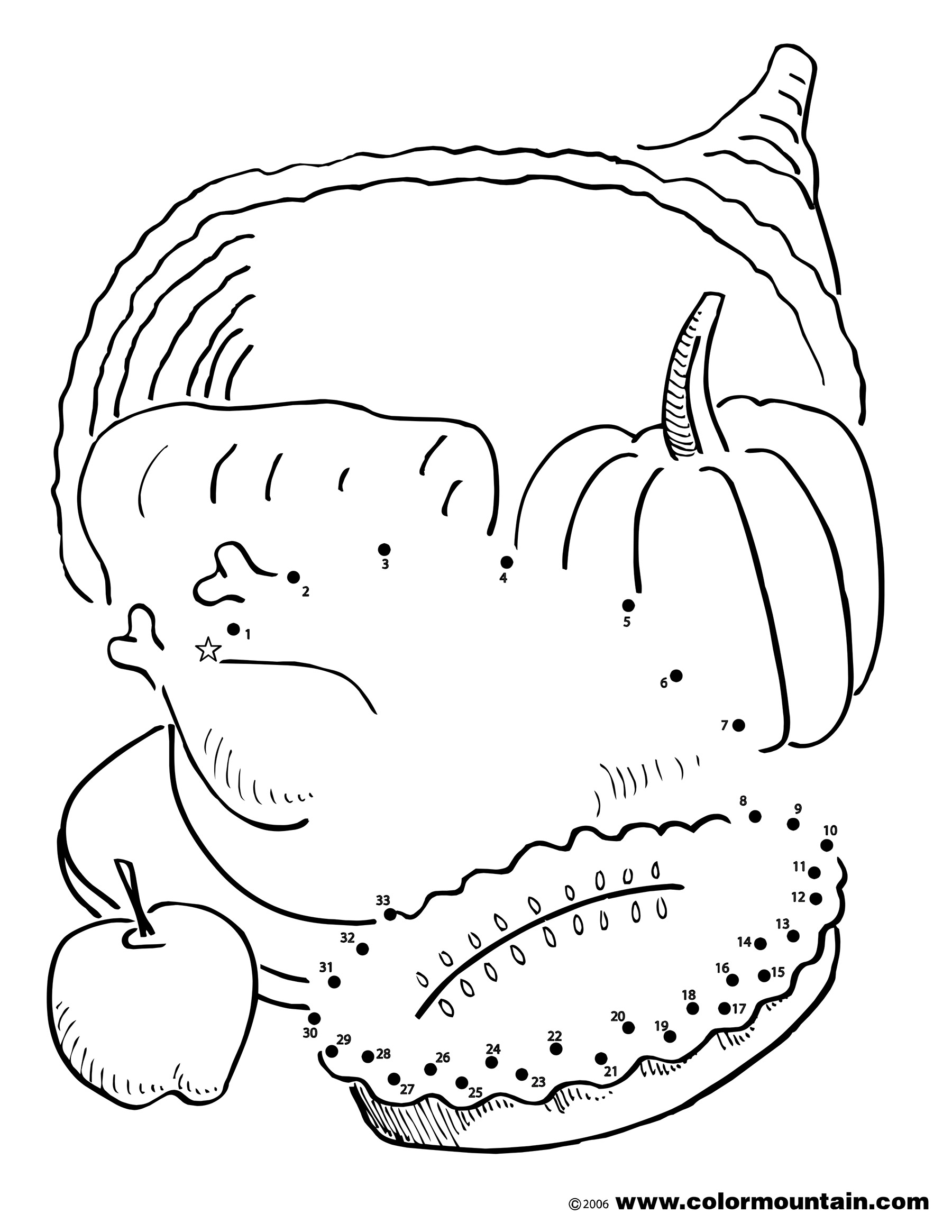 1800x2329 Thanksgiving Activity Coloring Page