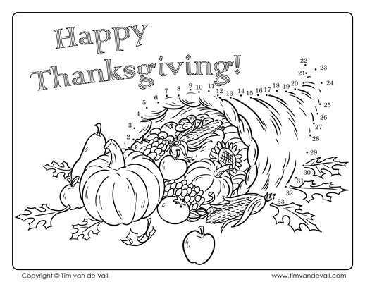 518x400 Thanksgiving Dot To Dot Coloring Pages Thanksgiving Connect