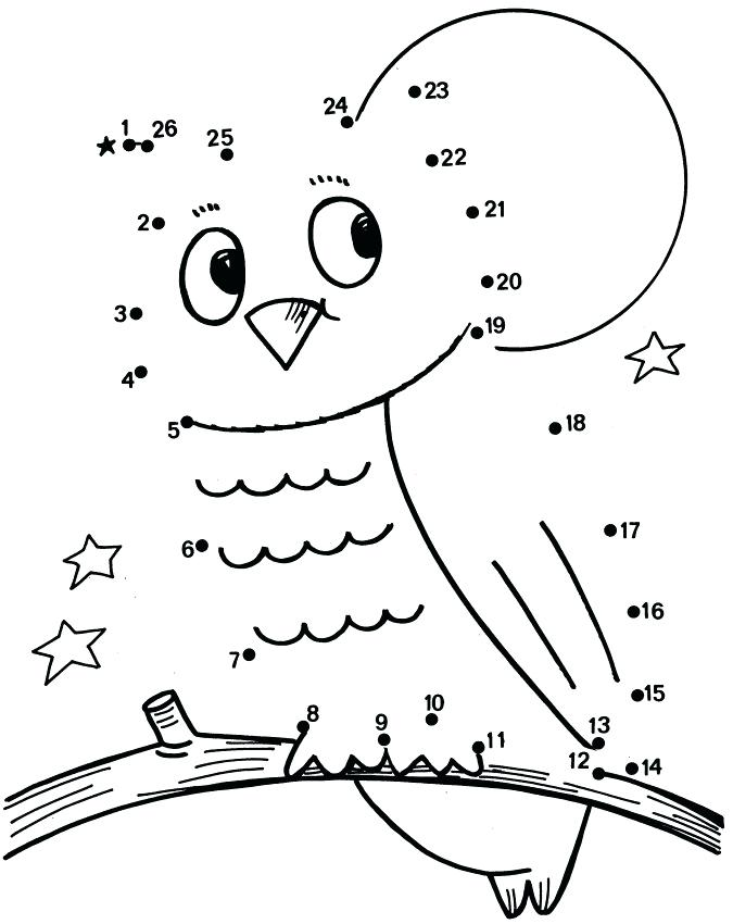 675x850 Connect The Dots Coloring Pages Owl Dot To Coloring Pages