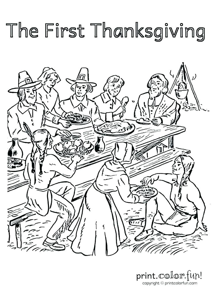 736x1012 Thanksgiving Dinner Coloring Pages Thanksgiving Dinner Coloring
