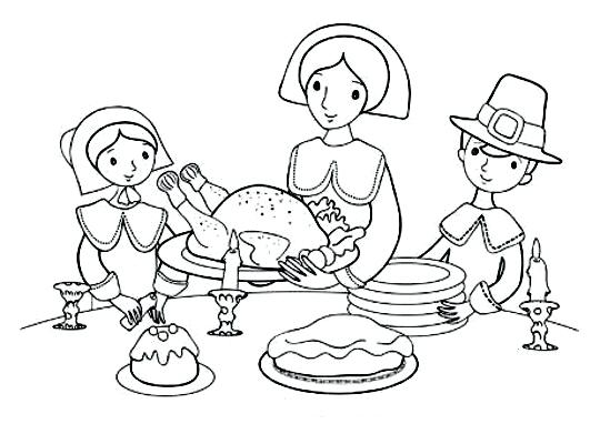 540x382 Thanksgiving Dinner Coloring Pages Thanksgiving Dinner Plate