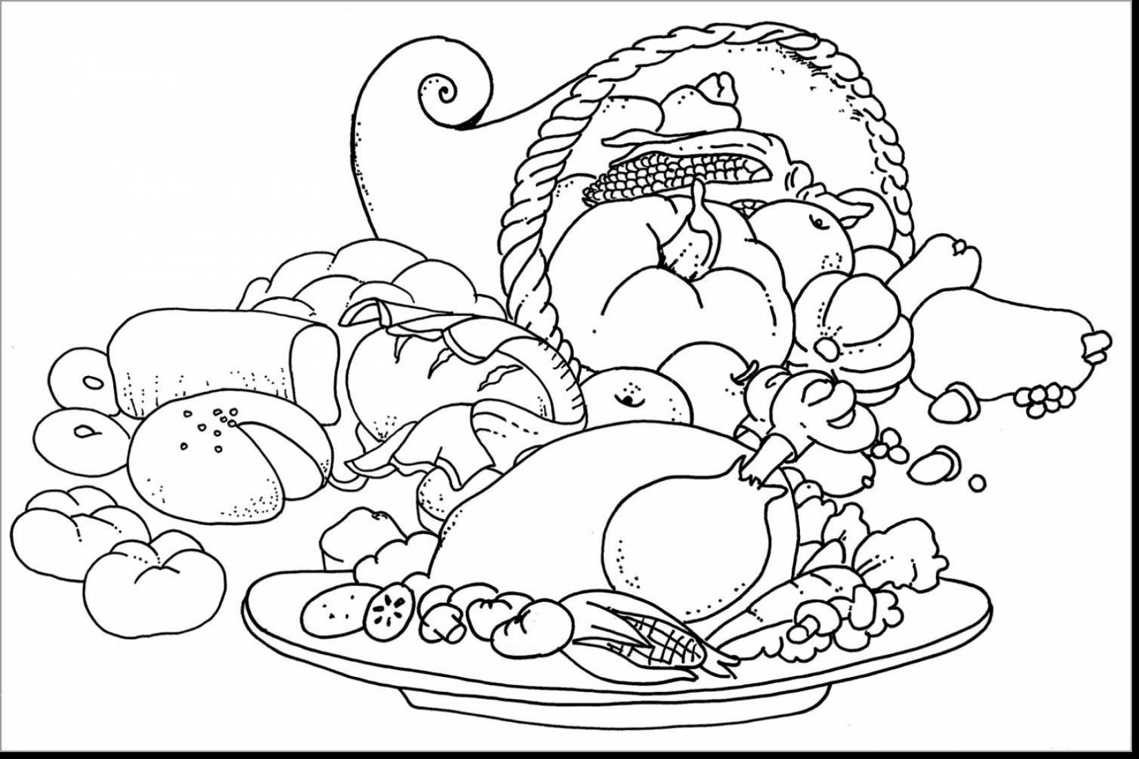 1650x1100 Astounding Thanksgiving Feast Coloring Pages With Free Printable