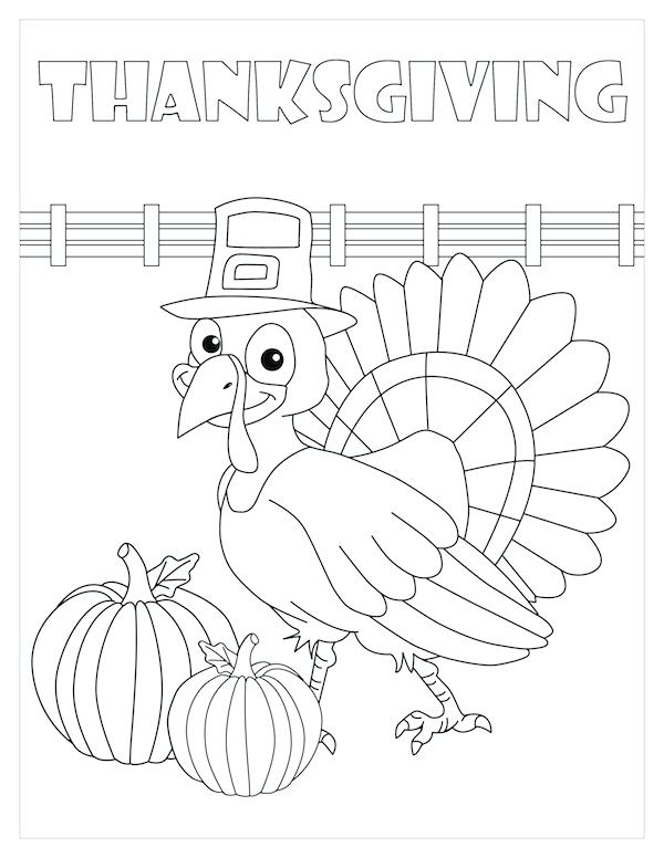 600x776 Thanksgiving Feast Coloring Pages Simple Penguin Easy