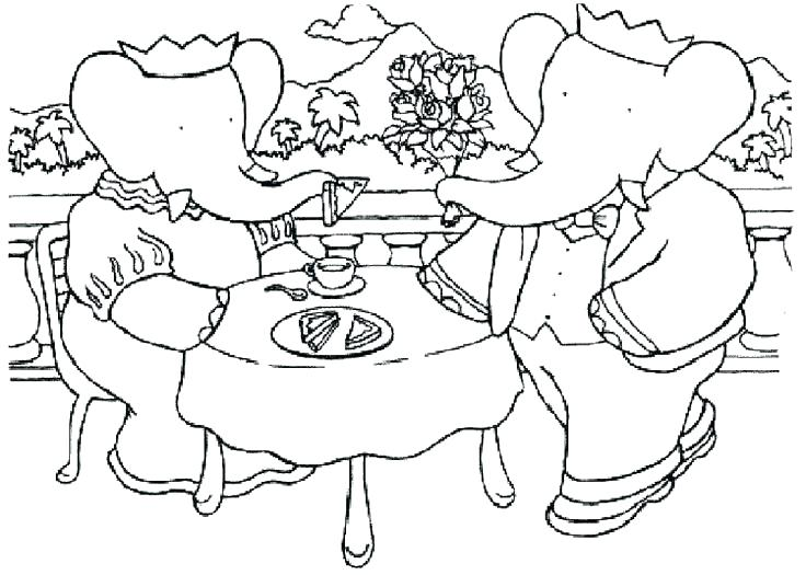 736x525 Dinner Coloring Pages Thanksgiving Dinner Plate Coloring Page
