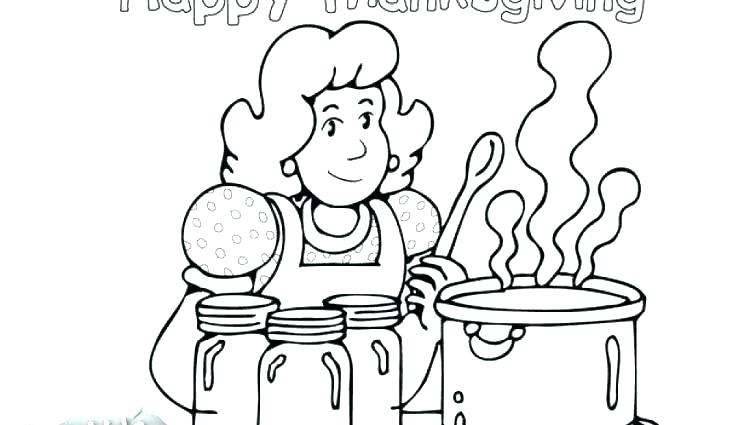 750x425 Turkey Dinner Coloring Page