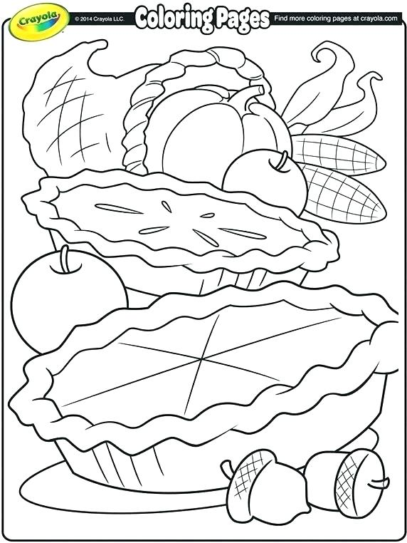 572x762 First Thanksgiving Feast Coloring Pages Pies