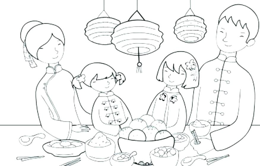 876x561 Thanksgiving Day Coloring Pages Thanksgiving Feast Coloring Pages