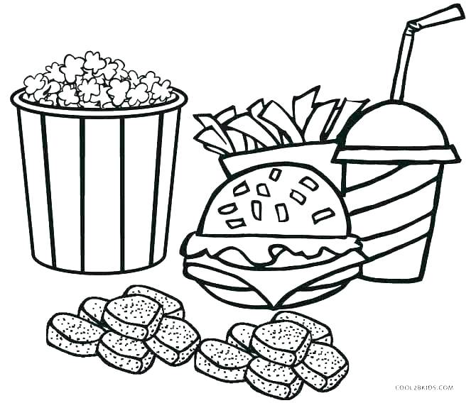 670x568 Free Food Coloring Pages To Print Projects Design Junk Food