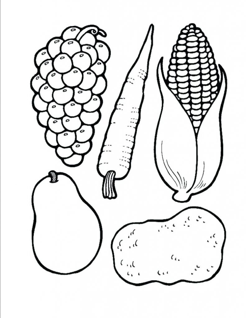 791x1024 Thanksgiving Food Coloring Pages