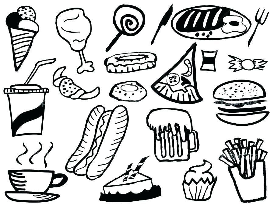 900x675 Thanksgiving Food Coloring Pages Free