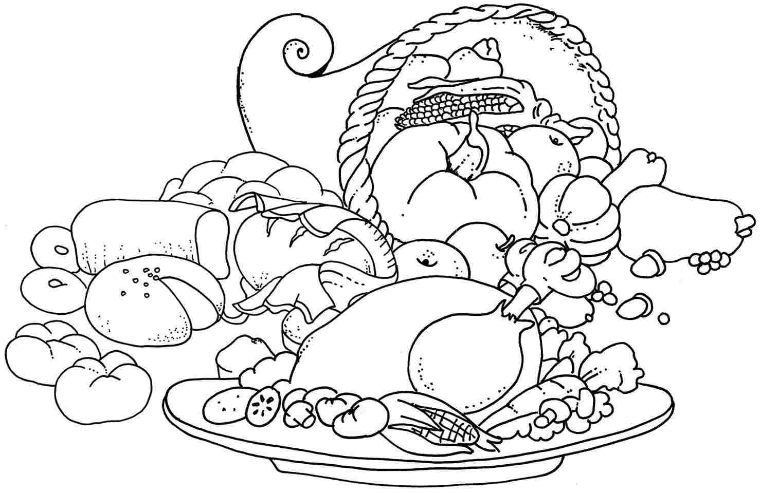 1478x960 Thanksgiving Food Coloring Pages Printable