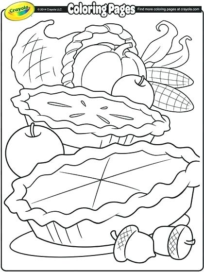 420x560 Thanksgiving Food Coloring Pages