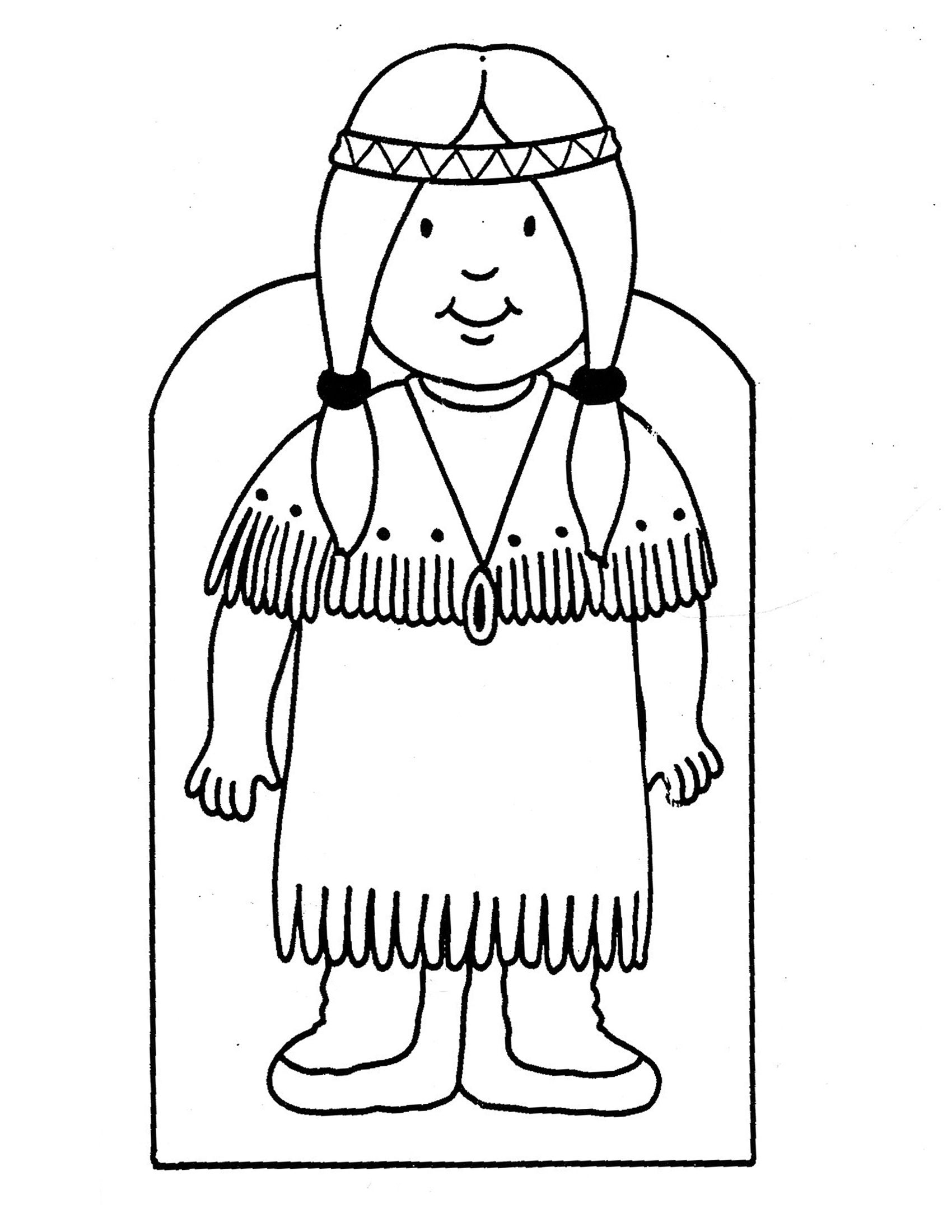 1700x2200 Indian Coloring Pages