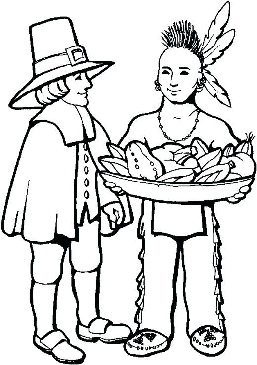 520x738 Indian Coloring Pages Printables Free Thanksgiving Coloring