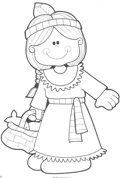 408x600 Thanksgiving Indian Coloring Page Coloring Book