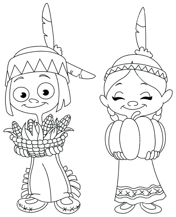 618x761 Thanksgiving Indian Coloring Pages Coloring Page Coloring Pages