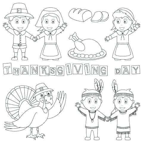 480x480 Thanksgiving Indian Coloring Pages Luxury Pilgrim And Coloring