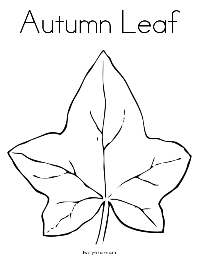 685x886 Autumn Leaf Coloring Page