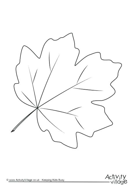 460x650 Thanksgiving Leaves Coloring Pages Simplistic Maple Leaf Coloring