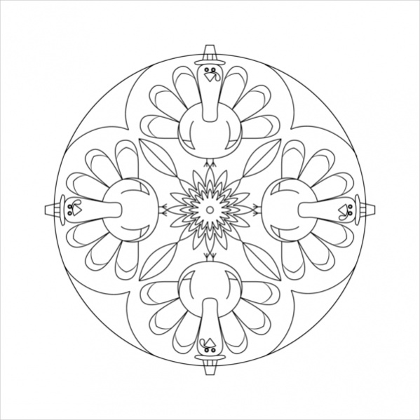599x599 Lovely Thanksgiving Mandala Coloring Pages Reviews Diy Coloring Page