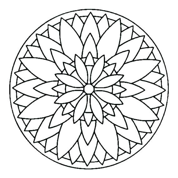 570x570 Coloring Thanksgiving Mandala Coloring Pages Art Simple Therapy