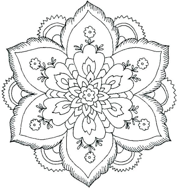 580x615 Fall Mandala Coloring Pages
