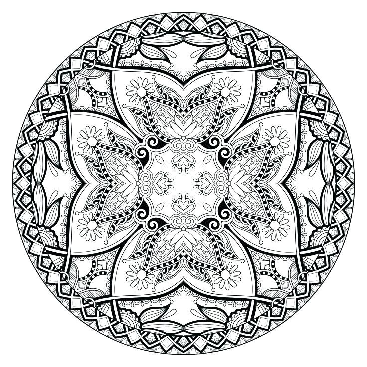 736x736 Free Mandala Coloring Pages