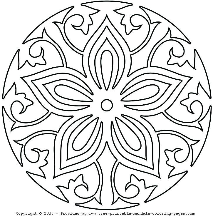 725x745 Free Printable Mandala Coloring Pages Thanksgiving Mandala