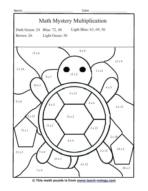 510x660 Multiplication Color Pages Math Coloring Pages Multiplication