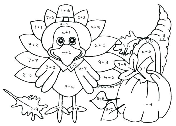 618x442 Thanksgiving Number Coloring Pages Hard Color