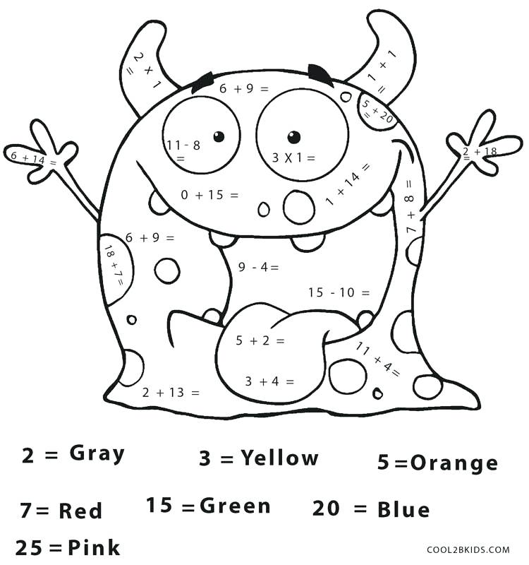 750x800 Printable Math Coloring Pages