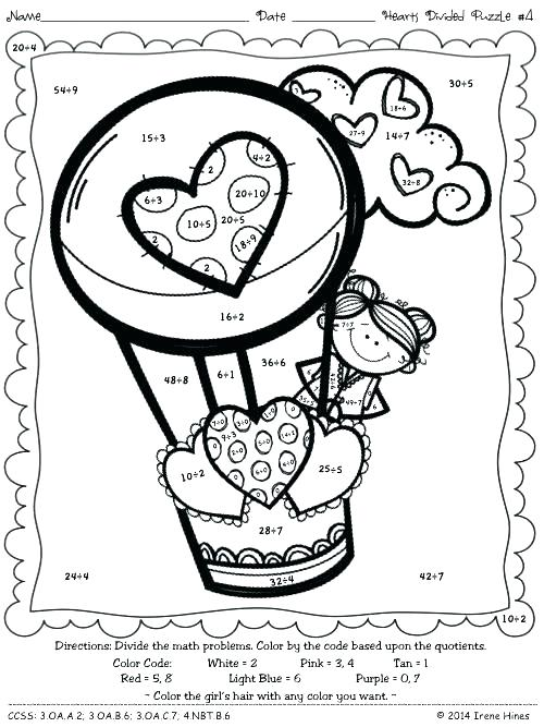 500x667 Grade Coloring Pages Coloring Math Worksheets Division