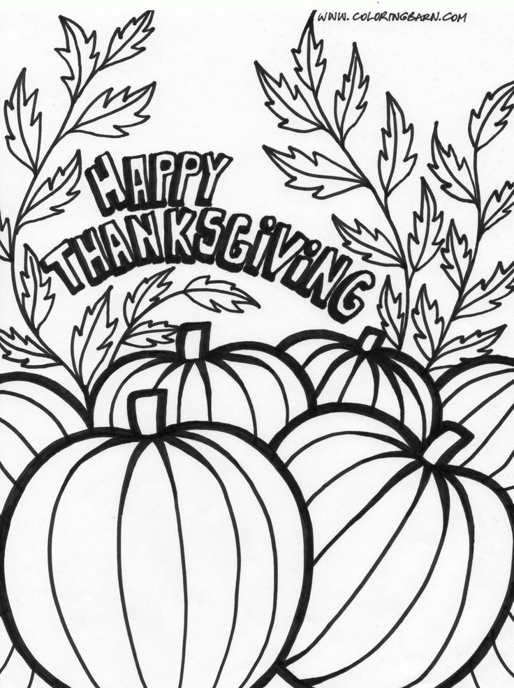 Thanksgiving Pumpkin Coloring Pages