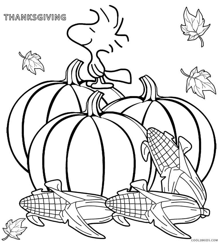 765x850 Printable Thanksgiving Coloring Pages For Kids