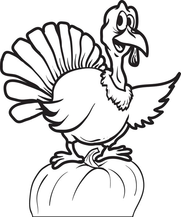 584x700 Turkey Head Coloring Pages Happy Easter Thanksgiving