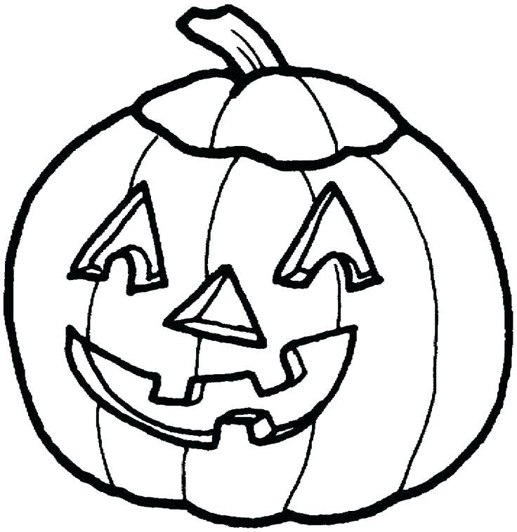 736x758 Coloring Page Of A Pumpkin Blank Pumpkin Coloring Page Pumpkin