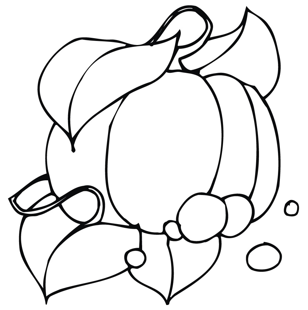 986x992 Cute Pumpkin Coloring Pages