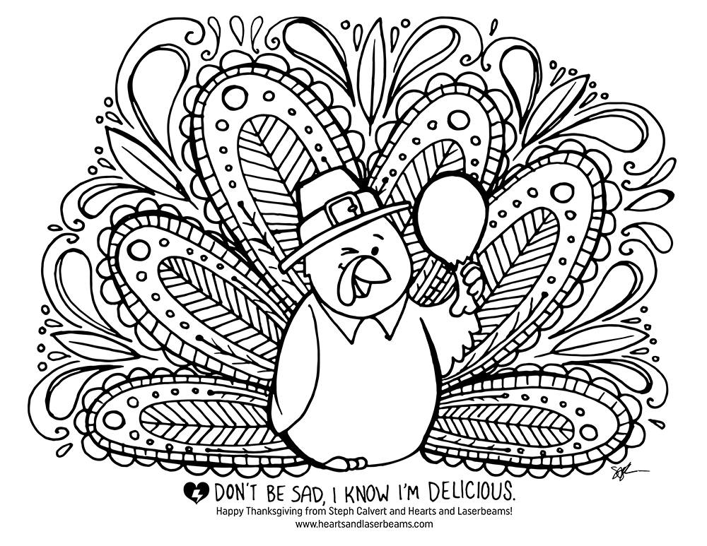 1000x773 Free Turkey Coloring Pages For Thanksgiving