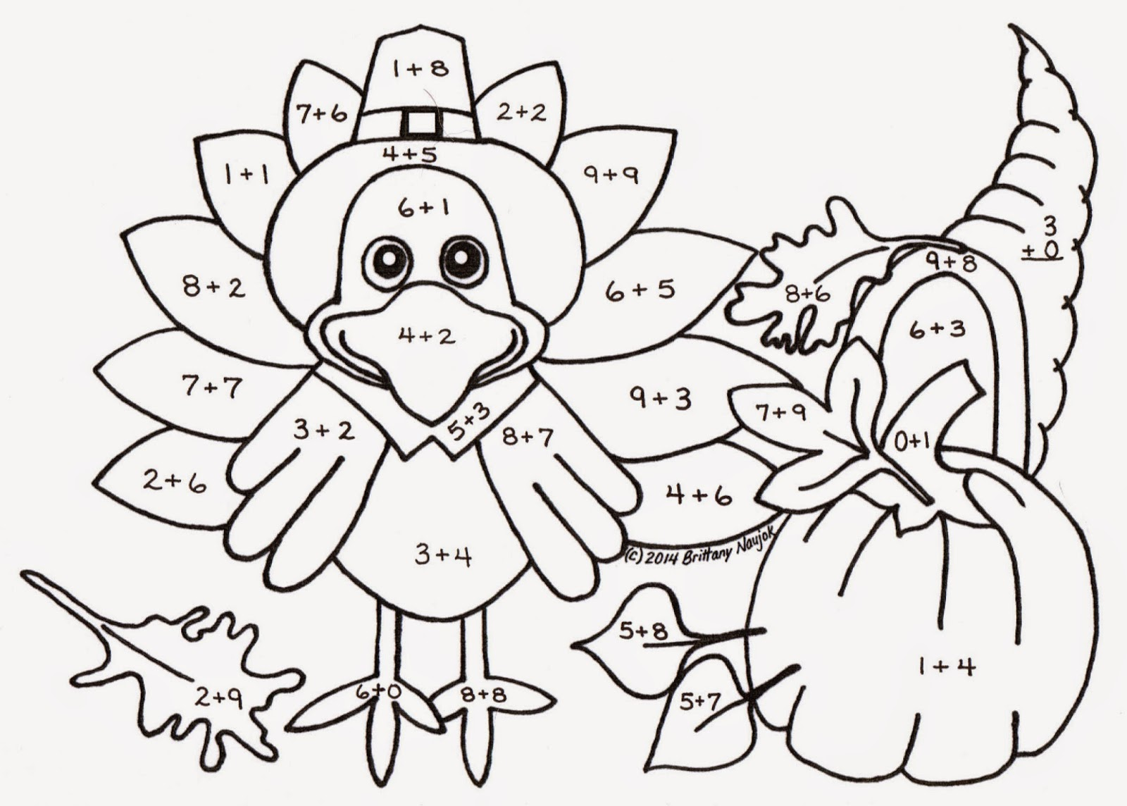 1600x1144 Sampler Thanksgiving Multiplication Coloring Pages Kindergarten