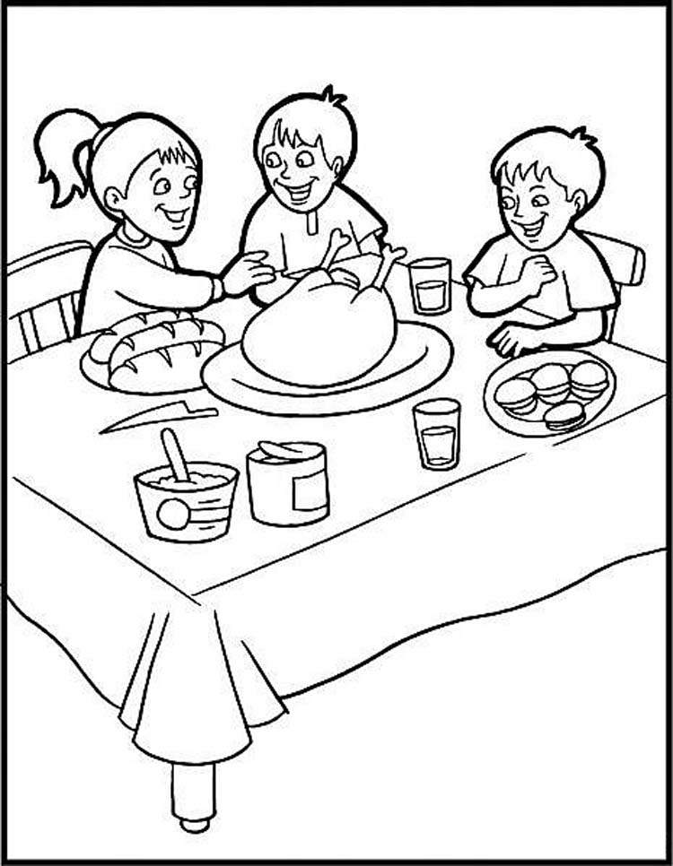 750x966 Thanksgiving Color Pages For Kids
