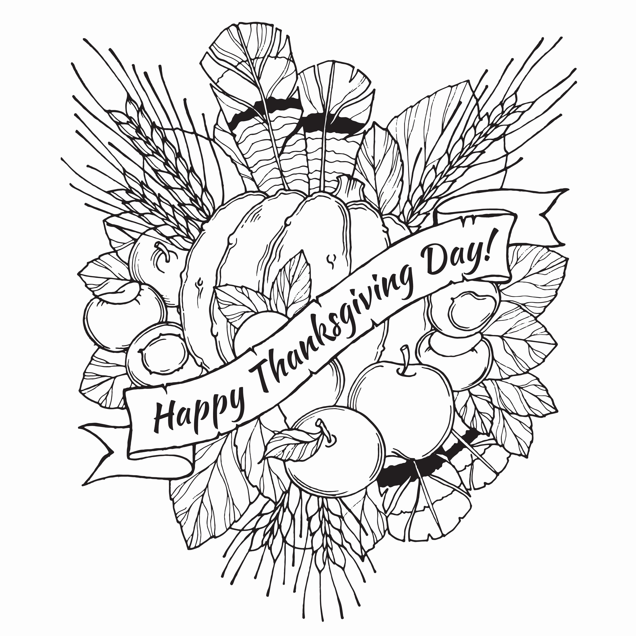 2048x2048 Thanksgiving Coloring Pages Printables Luxury Lots Of Great