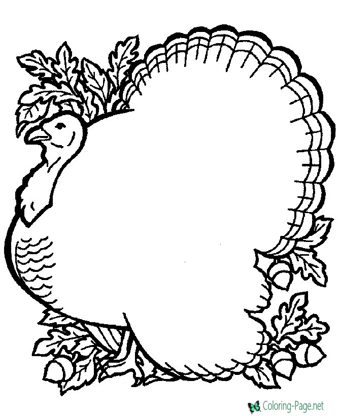 670x820 Thanksgiving Coloring Pages