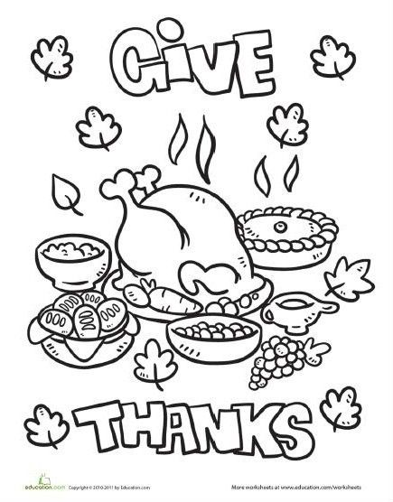 435x556 Thanksgiving Dinner Coloring Pages Printables Festival Collections