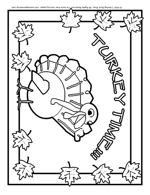 612x792 Thanksgiving Printable Coloring Page Turkey Placemat For Kids' Table