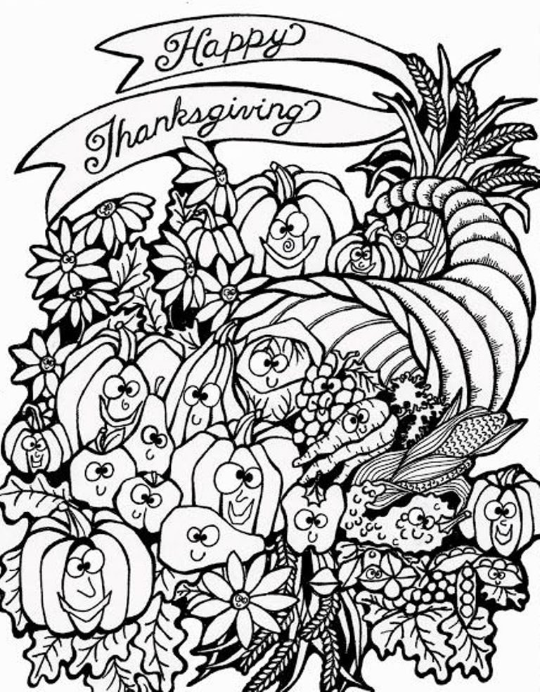 768x985 Harvest Coloring Pages Printables