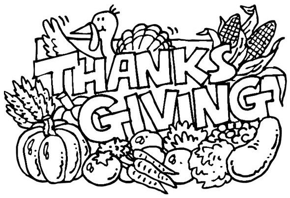 590x403 Shades Of Turkeys And Pumpkin Pie Thanksgiving Colouring Pages